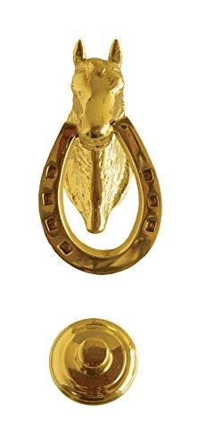 Imex The Fox b-76054–Knocker Horse Andalusian Brass Brightness, 70x (Brass Horse Door Knocker)