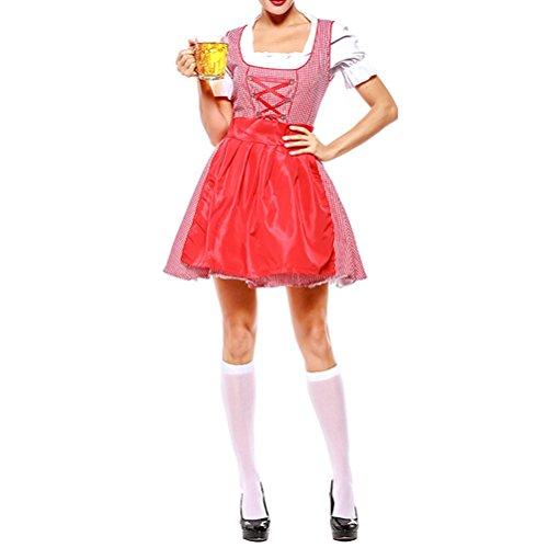 Zhuhaijq Costume Munich Costumée Mini-jupes Dames Femmes Outfit De Ménage Dames Rouges