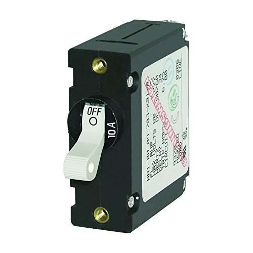 Blue Sea Systems 7206 Breaker, A, 1 Pole Wht-Toggle AC/DC 10A