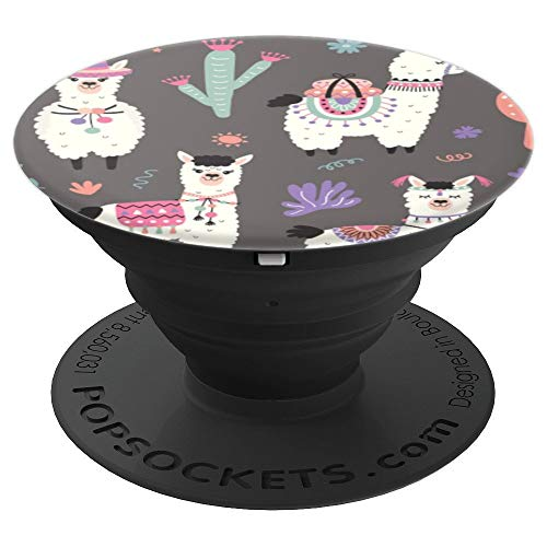 Cactus Llama Alpaca Pattern PopSockets Grip and Stand for Phones and Tablets