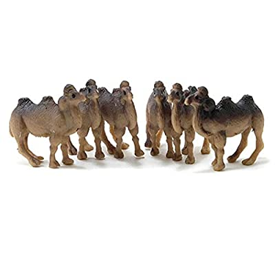 Dollhouse Miniature Set of 6 Brown Camels by Multi Minis: Toys & Games