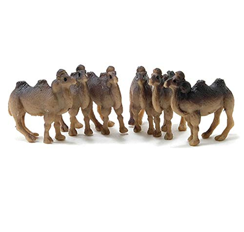 Camel Miniature - Dollhouse Miniature Set of 6 Brown Camels by Multi Minis