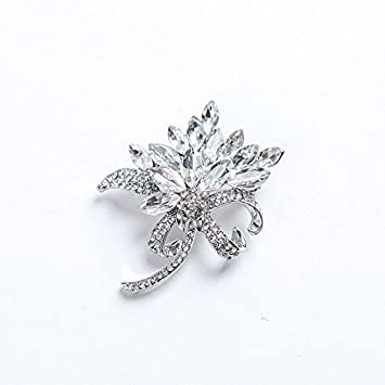 Tianlu Blumen Brosche Brosche Blume Volle Diamantene Hochzeit Manner