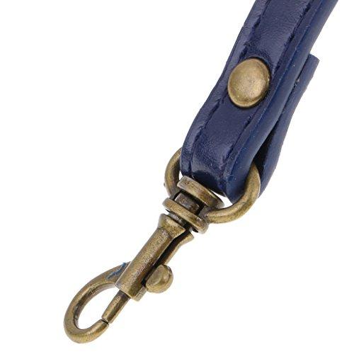 Bolsa de Crossbody Correa DIY Hombro Bolso Azul de Ajustable de Sharplace Correa Cuero Azul de de Reemplazo de qRtBwp4x