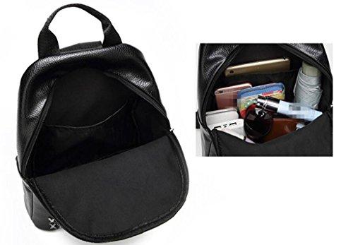 Tourisme PU Loisirs Durable Shopping 33cm Sac de Black à Voyage étudiant BeiBao Girls Sac 11 Travail Rivet 29 bandoulière Double 8z7xppRq