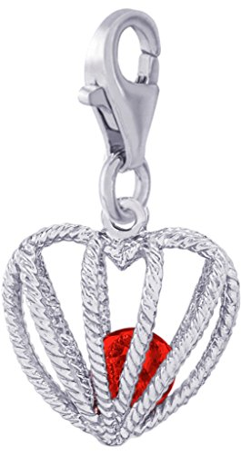 (Rembrandt Charms, Embraced with Love, July Stone with Clasp.925 Sterling Silver)