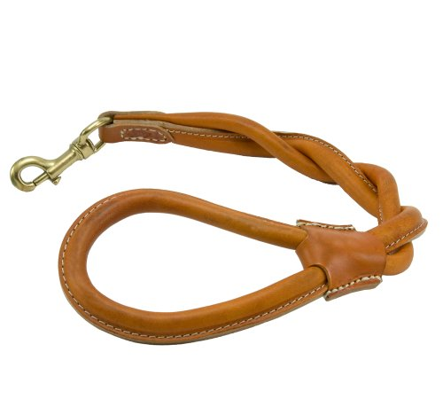 Petego La Cinopelca London Leather Twisted City Grip Dog Leash, 25 Inches