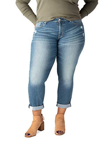 Signature Plus Size Mid Rise Jeans