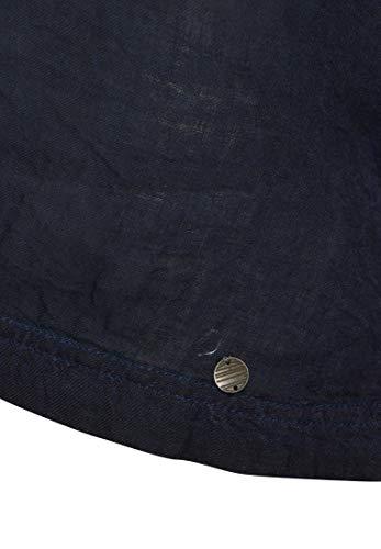 Tonda A Unita Manica Camicia Punta Donna Lunga Blu Tinta Khujo XtZqt