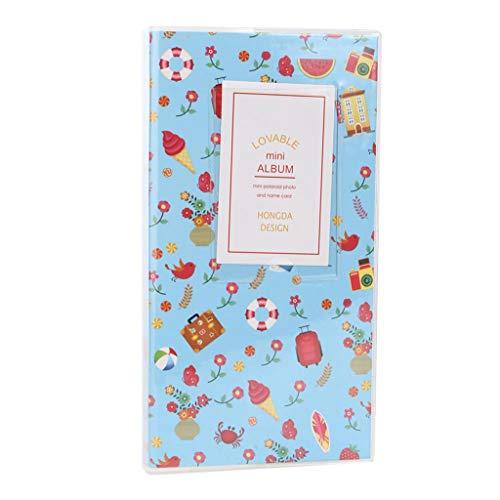 (fpnhgf Photo Albums 84 Pockets Photo Album Candy Color Camera Album Photo Album Picture Case,Blue)