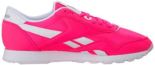 Gre Sneaker Nylon Stark White Acid Brights Women's Reebok Pink Cl pwq7InPz