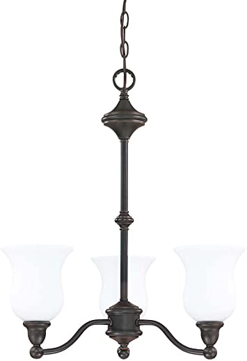 Nuvo 60 1781 Glenwood 3-Light Chandelier, Sudbury Bronze
