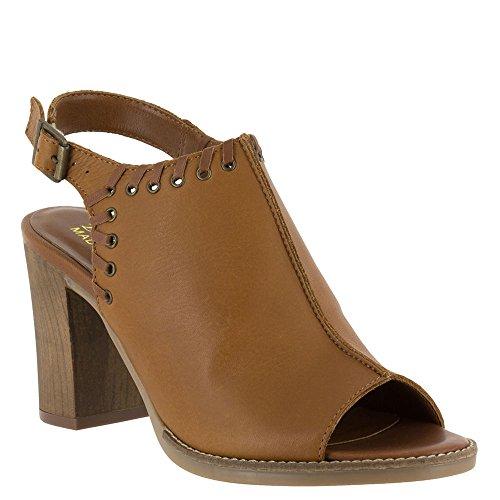 Bella-Vita Women's Ora-Italy Whiskey Leather Sandal (Bello Trim Wood)