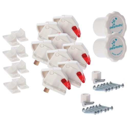 Dreambaby Mag Lock Magnetic Locking System - 8 Locks and 2 Key