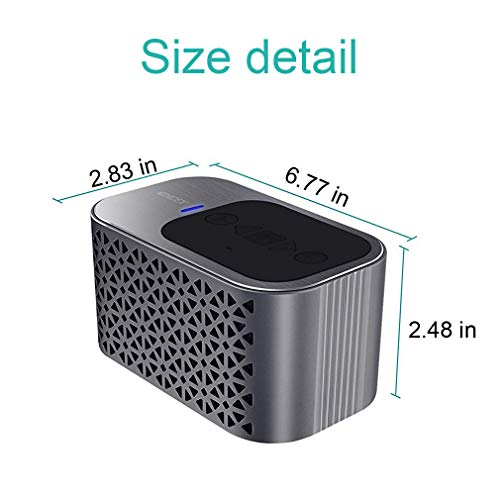 Wireless Portable Bluetooth Speakers for iPhone,Waterproof Shower Bluetooth Speaker with Bass Dual 5W Driver(4400mAh Battery, 24H Playtime)