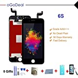 Ogodeal Screen Replacement for iPhone 6S LCD Screen Replacement Black Display Glass Touch Screen Digitizer Assembly