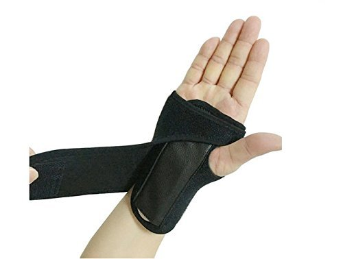 Adjustable Hand & Wrist Brace with Stabilizer Steel Plate Wrist Support Cushioned
