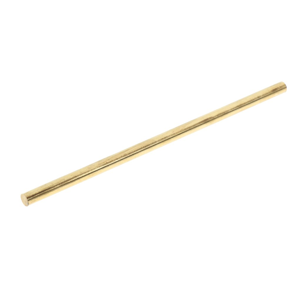 perfk 4'' Solid Brass Round Bar Rod Stock for Turning Milling Drilling, Dia 4mm