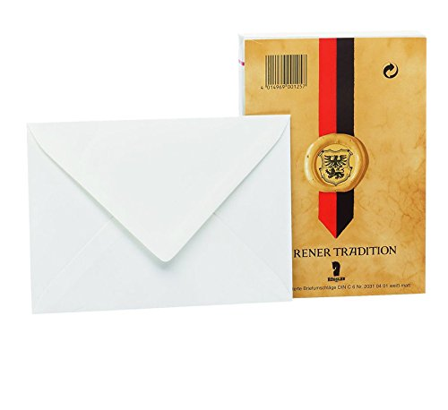 (Rössler 20310401°C6Envelope Pack with Silk Lining-White (Pack of 25))
