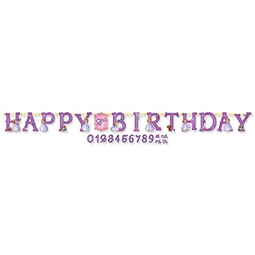 Jumbo Add-An-Age Letter Banner | Disney Sofia The First Collection | Birthday]()