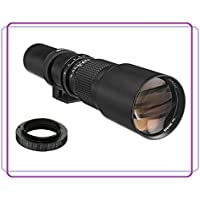 500mm f/8.0-f/32.0 Manual Focus Telephoto Lens For Nikon D3000, D3100, D3200, D5100, D5200, D7000, D7100, D7200, D80, D90, D100, D200, D300, D600, D610, D700, D750, D800, D800E, D810 DSLR Camera