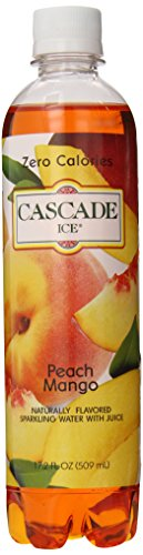 (Cascade Ice Sparkling Water, Peach Mango, 17.2 Ounce (Pack of 12))