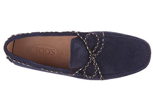 Tod's mocasines en ante hombres nuevo laccetto gommini 122 blu
