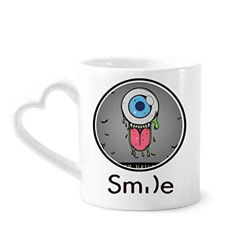 Universe And Alien Halloween Monster Smile pattern Mug Cup Pottery Heart -