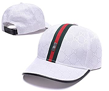 Gucci Cotton Adjustable Fitted Hip Hop Cap UnisexHat Snapback White   Amazon.ca  Sports   Outdoors 5052d9579ae