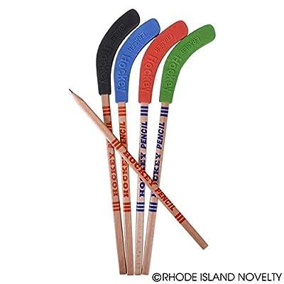 Rhode Island Novelty Hockey Stick Pencils 1 Dozen: Home & Kitchen