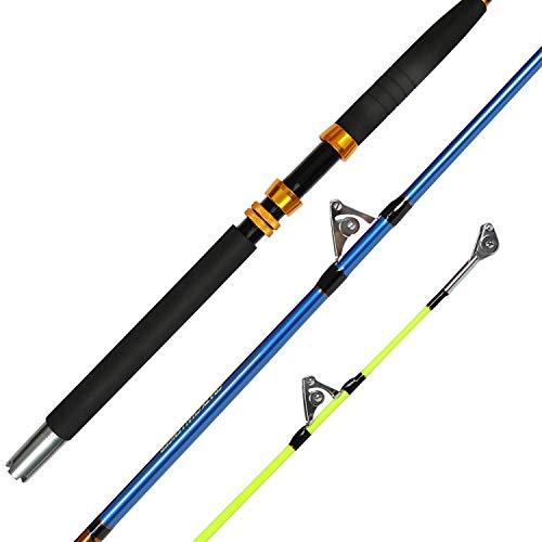 Fiblink Saltwater Offshore Extra Heavy 2-Piece Conventional Boat Fishing Rod(50-80lb, 6-Feet)