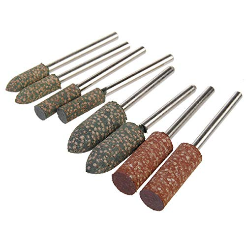 8pcs Shank Rubber Grinder Abrasive Tools for Dremel Rotary Tools