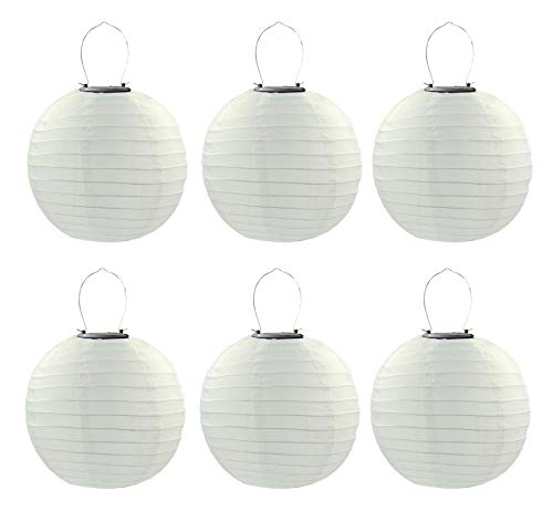 6PCS/Set 30cm Solar Powered Hanging Oriental 12