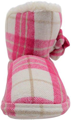 Botines Fuschia Botas mujer piel mujer para artificial con tartán botines estilo y para 7ZBZd