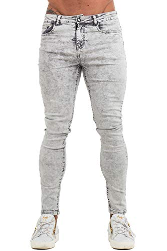 Men Jeans Slim Fit Grey Jeans for Men Straight Athletic Fit Pants Men Size 34