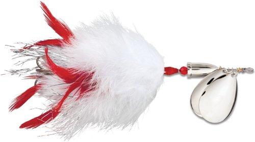 Blue Fox Vibrax Super BOU TW 8 Fishing Lure, White Red, 7-3/4-Inch