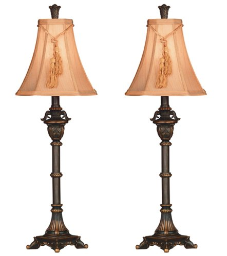 Bronze 60w Buffet Lamp - Hunter Rowan Buffet misc-home-décor with Metallic-Bronze Finish, Set of 2
