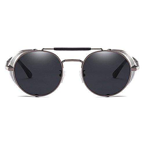 Goggle C6 Lunettes MEIHAOWEI Hommes Cadre Steampunk Soleil de Métal Dames Gothique Vintage qxtxwP74