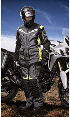 Rukka Roughroad Gore Tex Motorcycle Trousers 50 Grey Yellow Standard Auto