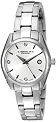 Stuhrling Original Women's 414L.01 Classic Ascot Swarovski Crystal-Accented Stainless Steel Watch