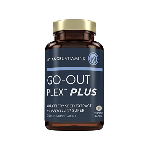 Mt. Angel Vitamins - Go-Out Plex Plus, NEW IMPROVED FORMULA, Celery Seed Extract, Boswellin, Tart Cherry, Bromelain, BioPerine