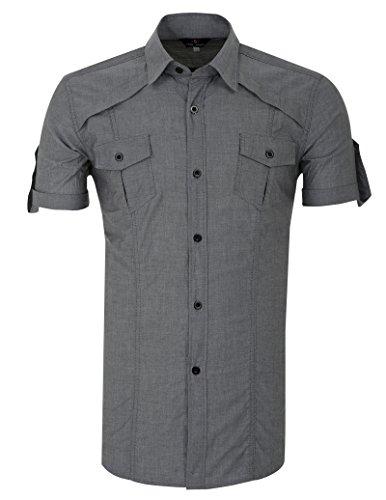 Buy grey dress pants with white shirt - 5
