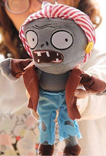 YTJSFH Plush Toy Plant vs Zombie Cute Pirate Zombie Gray face ()