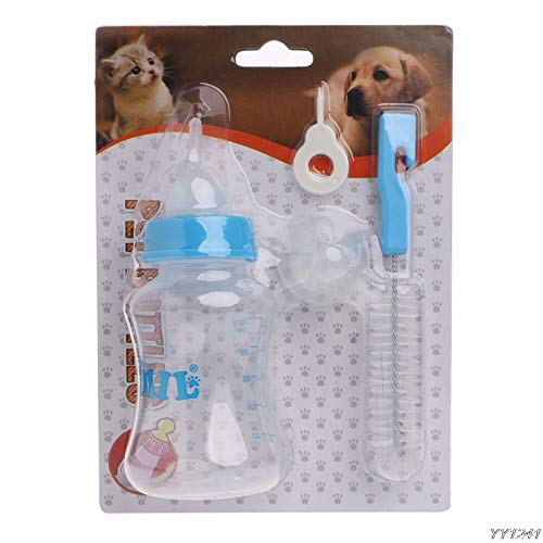 Dog Feeding - Convenient Feeding Nursing Bottle Nipple Brush Kit Puppy Cat Kitten Y110 - Bottle Puppies Baby Bottles Tube Feeding Feeding Cardigan Shawl Kitten Milk Nipple Bottle ()