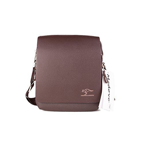 Modovo Men's Genuine Leather/PU Authentic kangaroo kingdom Shoulder Bag Messenger Bags (Large)