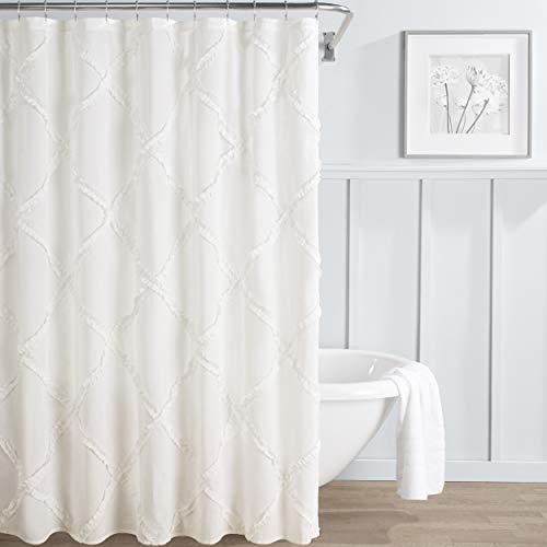 Cottage Cotton Curtain - Laura Ashley Adelina Shower Curtain 72x72 White