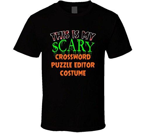 Crossword Puzzle Halloween Costume (This is My Scary Crossword Puzzle Editor Halloween Costume Custom Job T Shirt XL Black)
