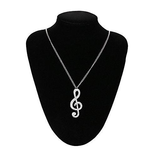 Music Note Necklace Jewelry Charms - Sweater Chain Jewellery Pendant Necklace Gifts for Women Lady,Ideal for Wedding,Party Costume,Or Any Other Occasions ()