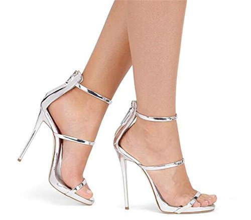 cinghie Da Festa GAOGENX sandali Tacco da Scarpe spillo donna a 44 Club Roma Caviglia 35 EU35 Vestito a Pelle wqgX6qSB