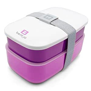 bentgo all in one stackable lunch bento box purple health personal care. Black Bedroom Furniture Sets. Home Design Ideas